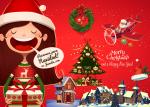 2015 Christmas and New Year creative backgrounds vector 2 9 - Los Mejores Vectores, PSD e Imágenes para Navidad
