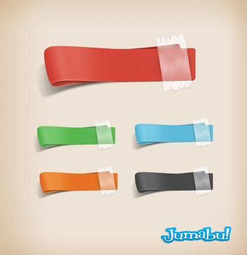 4 Free PSD Ribbons Preview Big 500x5162 - Cintas Coloridas para Destacados
