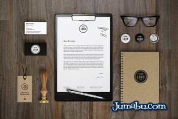 Branding Identity MockUp Vol7 600 - Elementos de Oficina Mock Up Editabe con Photoshop