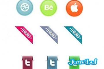 Free Web Ribbon Set Preview Big1 500x3472 - Set de Ribbons Editables en Photoshop