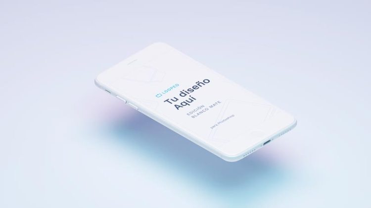Iphone color blanco mate mockup - Fantásticos Mockups de distintos dispositivos en color blanco mate