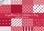 a set of 16 vector patterns for valentines day 23 2147504009 - Texturas, Backgrounds o Fondos para San Valentín en Vectores