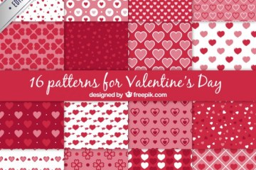 a set of 16 vector patterns for valentines day 23 2147504009 - Texturas, Backgrounds o Fondos para San Valentín en Vectores
