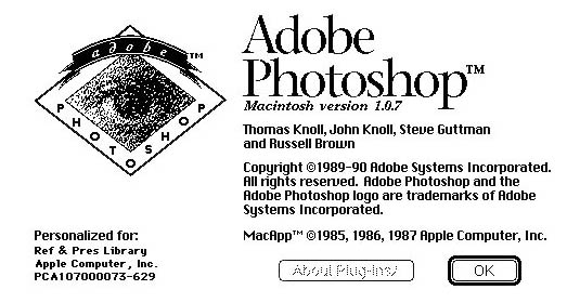 adobe photoshop pantalla 1990 - La evolución de Adobe Photoshop año tras año