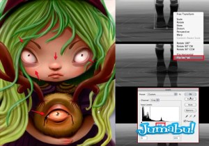 arte digital halloween personaje - Tutorial Dibujo Pintura Digital con Motivo Halloween