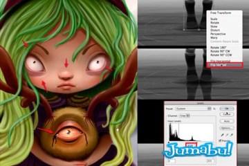 arte digital halloween personaje - Tutorial Dibujo Pintura Digital con Motivo Halloween