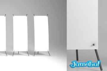 banners mock up photoshop - Mock Up de Banners en Photoshop