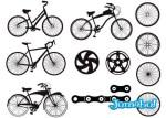 bicicletas vectorizadas siluetas 21 - Vectores de Bicicletas