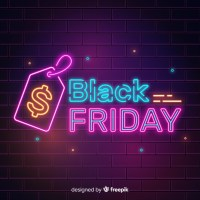 Cartel de neon para Black Friday