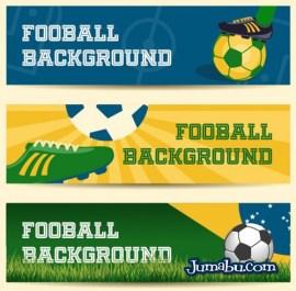 brasil banderas del vector coleccion 2014 evento de futbol - Encabezados o Banners del Mundial de Fútbol Brasil 2014