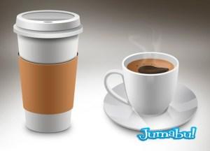 cafe psd vaso termico - Taza de Café en PSD y Vaso Térmico de Cafe en Photoshop