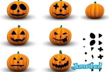 calabazas halloween vectoriales - Crea tu Calabaza de Halloween en Vectores