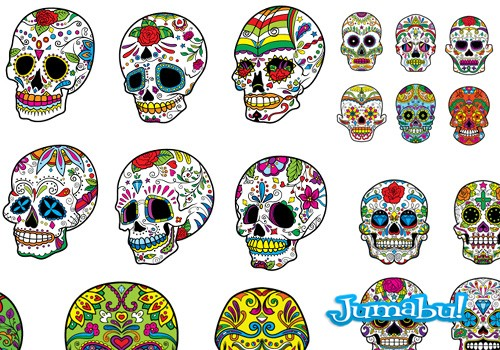 Calaveritas Mexicanas en Vectores