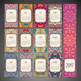 calendario 2017 mandalas - Calendario 2017 con mandalas y en vectores