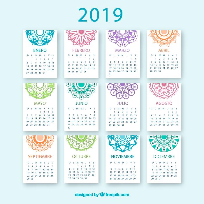 Calendario 2019 en español y totalmente gratis