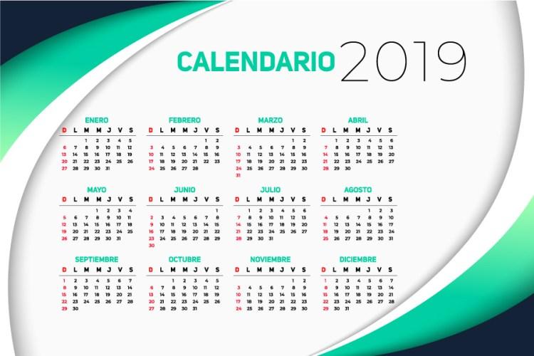 calendario 2019 en espa u00f1ol gratuito