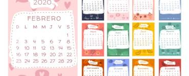 calendario 2020 espanol infantil - Calendario 2020 en español con estilo infantil