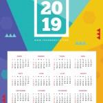 calendario2019 espanol geometrico - Nuevo Calendario 2019 para descargar e imprimir gratis