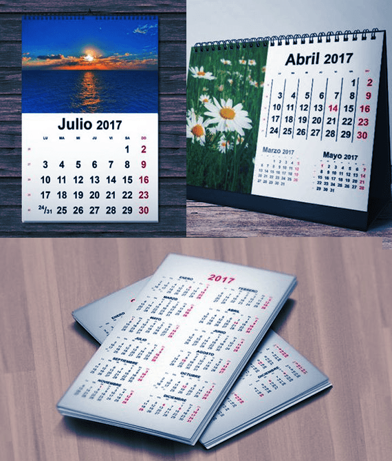 Calendarios 2017 para Imprimir gratis