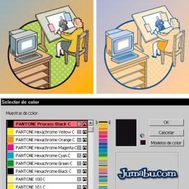 cambiar a dos tintas vector illustrator - Tutorial Illustrator - Pasar a 2 o 3 Tintas una Imagen Vectorial