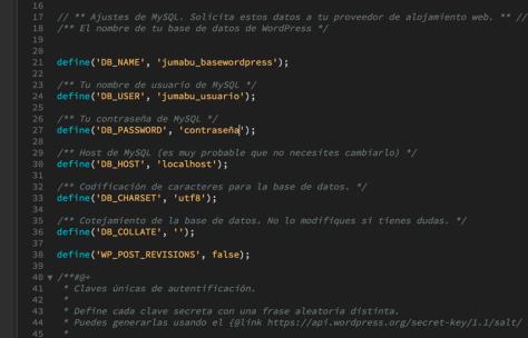 Como cambiar el nombre del archivo wp-config