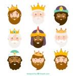 caras de reyes magos - Caras de los reyes Magos en Vectores