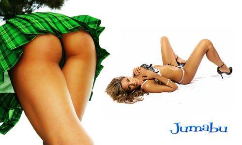 chicas muy lindas polleras verdes - Hermosas Mujeres JPG