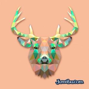 ciervo vectores gratis - Cabeza de Ciervo en Vectores Poligonales