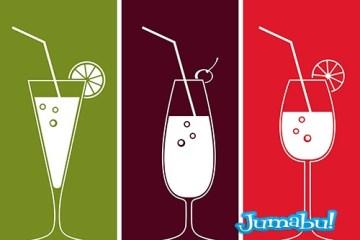 cocktails vasos - Tragos Vectorizados - Cocktails en Vectores