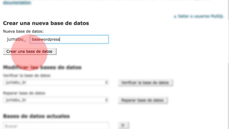 como crear base de datoss mysql - Cómo instalar Wordpress paso a paso