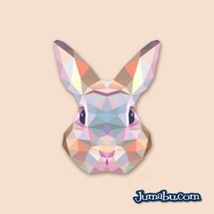 conego vectores descargar - Cabeza de Conejo Vectorizada con Textura Poligonal