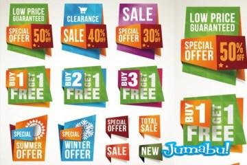 contenedores precios vectores - Bloques de Precios y Ofertas en Vectores Coloridos