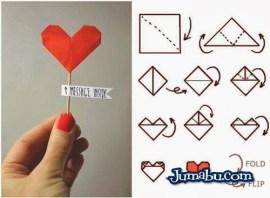 corazon de papel manualidades - Manualidades para San Valentín