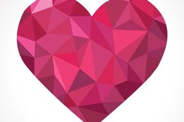 corazon diamante vector - Corazón Diamantado San Valentín Vector