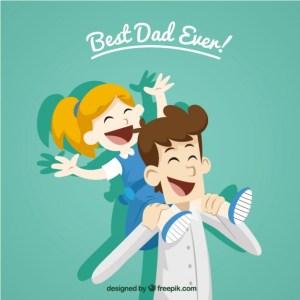 dia del padre vector dibujo - Vectores día del Padre para descargar gratis