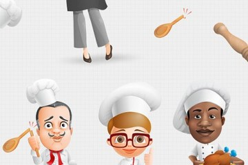 dibujos chef photoshop - Dibujos de Chef en PSD para Editar!