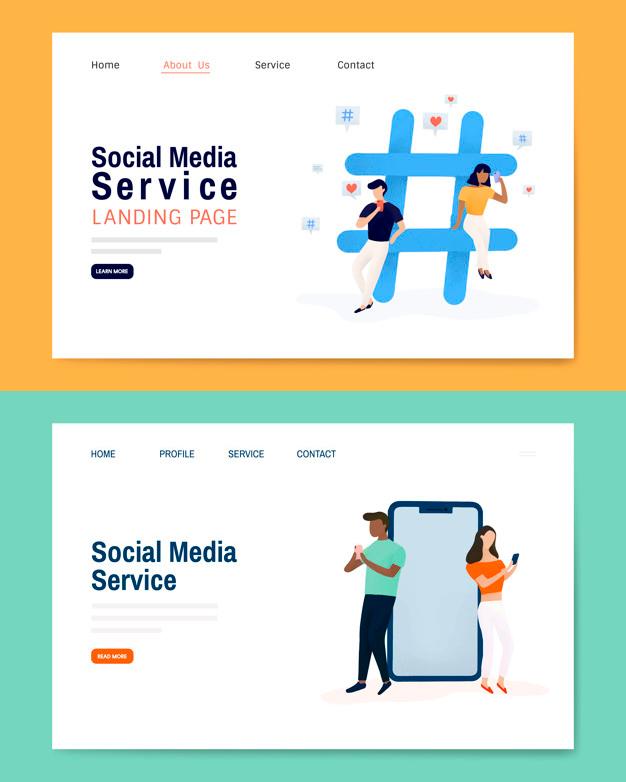 Diseño de Landing Page para Social Media