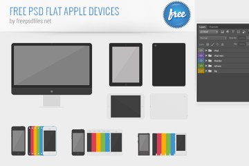 dispositivos apple flat design - Descarga los Dispositivos Apple en Flat Design