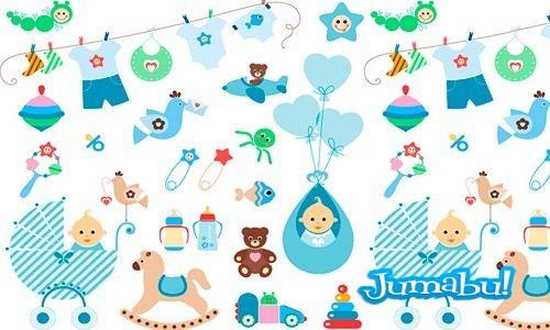 elementos vectores bebes - Vectores para Bebés
