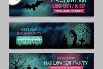 encabezados halloween headers vectores - Banners Vectores Gratis para Halloween
