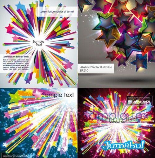 estrellas multicolor - Estrellas de Colores en Vectores