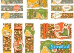 etiquetas invierno hojas caidas - Invitaciones, Etiquetas, Banners, Encabezados en Vectores con Motivos Otoñales