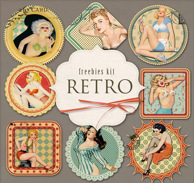 etiquetas-retro-mujeres-antiguas