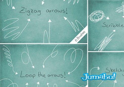 flechas brushes pincel photoshop - Pinceles Photoshop de Flechas con Estilo a Mano Alzada