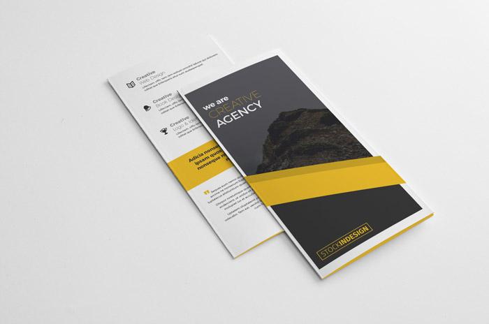 folleto triptico indesign - Folleto tríptico para editar con InDesign Gratis