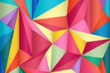fondo triangular colores - Descarga Fondos Geométricos en Vectores Gratis