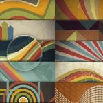 fondos geometricos vintage psd - Descarga Fondos Geométricos Retro en PSD