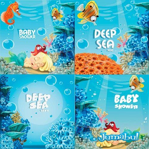 vida-fondo-marino-peces-vectorizados