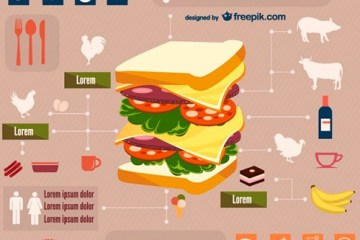 food and drinks free infographic 23 2147491839 - Comida y Bebidas Infografías en Vectores