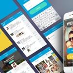 free mobile app ui kit - Interfaz de Usuario para iPhone 6